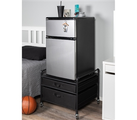 The Fridge Stand Supreme - Drawer Organization - Black Pipes