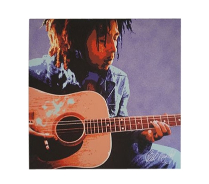 Bob Marley Acoustic Guitar Wall Canvas College Wall Decor