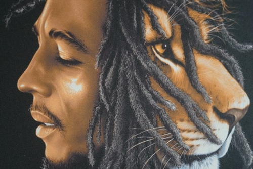 Bob Marley Lion Wall Canvas