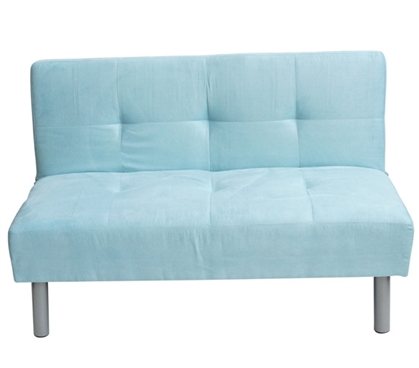 College Mini-Futon Bleached Aqua  Dorm Room Furniture
