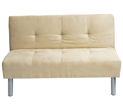 College Mini-Futon - Taupe Dorm Furniture