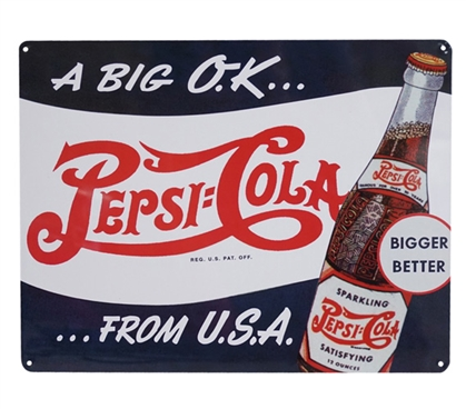 A Big OK Pepsi Tin Sign Dorm Essentials Dorm Room Decor