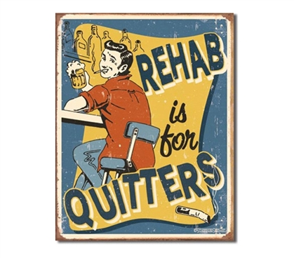 Tin Sign Dorm Room Decor funny rehab vintage illustration print on tin sign for dorm wall decoration