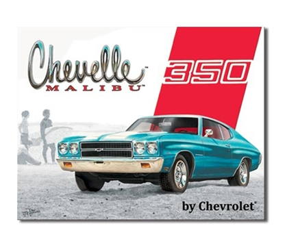 Tin Sign Dorm Room Decor classic Malibu Chevrolet blue car vintage photograph print on tin sign for walls