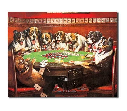 Tin Sign Dorm Room Decor gambling dogs colorful illustration tin sign for dormitory wall decorations