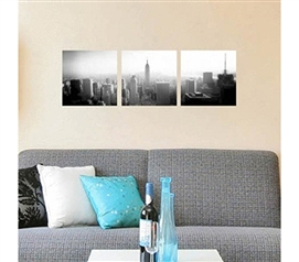 Place This New York City Panoramic View In Your Residence Hall Room - 3 Piece Peel N Stick
