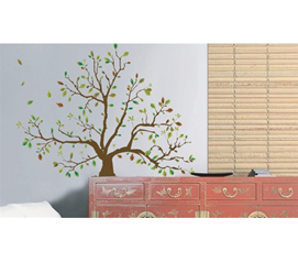Autumn Tree - Dorm Room Wall Decor Peel N Stick Girl's College Dorm Decor