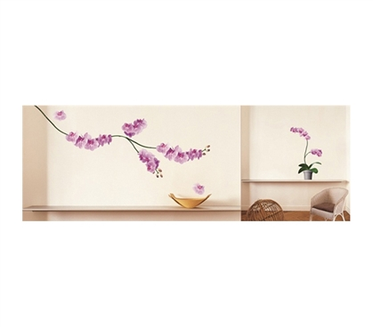 Position These Cheap College Supplies Wherever You Want - Pink Orchids - Peel N Stick