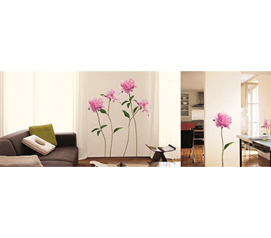 Beautiful College Room Decor - Pink Peony - Peel N Stick Decor