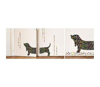 dorm doggie peel n stick. Black Bedroom Furniture Sets. Home Design Ideas