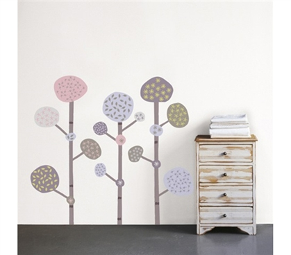 Mushroom Trees - Dorm Room Wall Peel N Stick Decorating Essentials