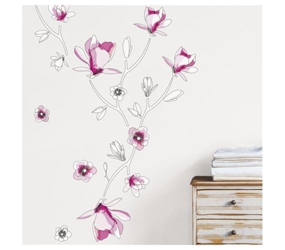 floral stencil dorm room wall peel n stick floral. Black Bedroom Furniture Sets. Home Design Ideas