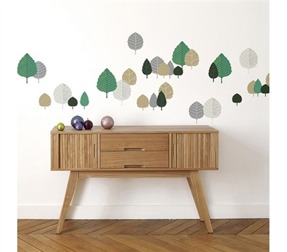 College Life Gifts For Adding Style To A Dorm - Beech Leaves - Peel N Stick