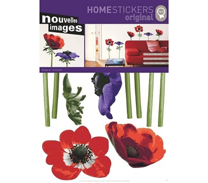 College Wall Safe Dorm Supplies - Beautiful Anemones Peel N Stick
