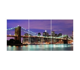 New York Panoramic Wall Art - Peel N Stick - Add Some Cool Wall Decor