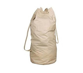 College Supply - College Over-the-Shoulder Canvas FLAX Laundry Bag Dorm Stuff - Dorm Essential