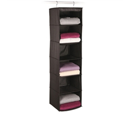 6 Shelf Sweater and Accessory Black Organizer - Keep Your College Life Organized