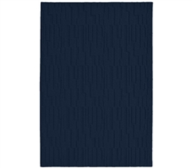 Dorm Decor in Blue - Allusion College Rug - Midnight Blue