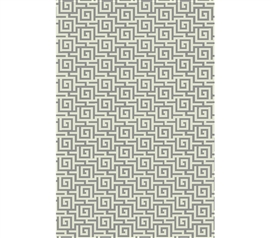 Egyptian Print College Rug - Ivory and Silver
