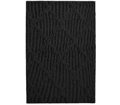 Quatrefoil College Rug - Black Dorm Essentials Dorm Room Decor
