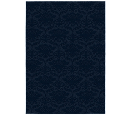 Dorm Carpets Make Dorm Decor Decisions Easy - Victorian College Rug - Navy