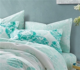 Calico Mint Pillow Sham