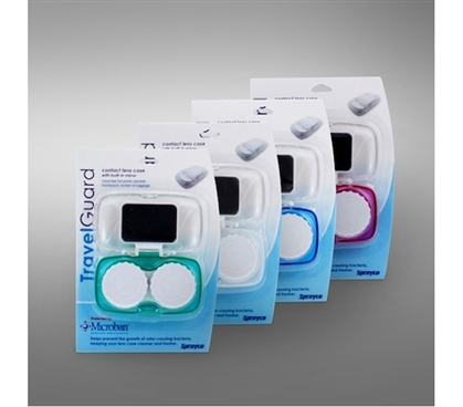 Necessary For Contacts Wearers - Contact Lens Case with Mirror - Handy Mirror Attached