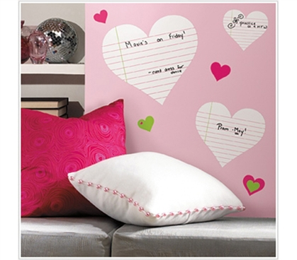Fun And Cool Dry Erase - Heart Notepads - Perfect Dorm Room Accessory