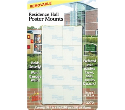 Residence Hall Poster Mounts - Mounting Tape Dorm room supplies