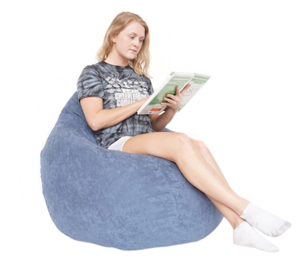 Suede Corduroy Dorm Bean Bag Chair Soft Dorm Room Seating Dorm Essentials