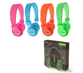 Neon Orange Polaroid Studio Headphones - Headphones For Cheap