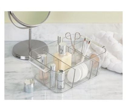 Divided Cosmetic Caddy - College Dorm Makeup Organizer