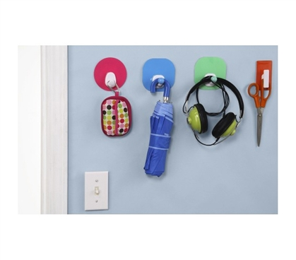 College Wall Approved Products - Hook UM! - Peel N Stick Dorm Room Hook