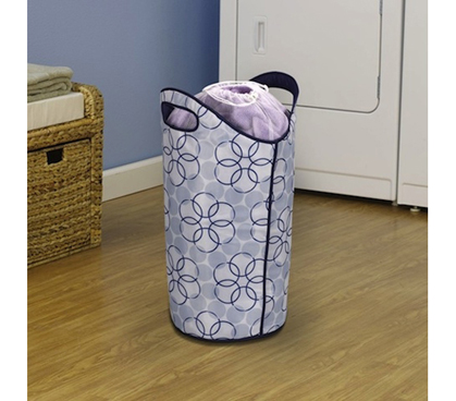 Dorm Essential - Easy Clean Hamper - Easy-To-Wipe Fabric