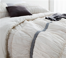 Jet Stream Cotton Lace Textured Quilt - Twin XL