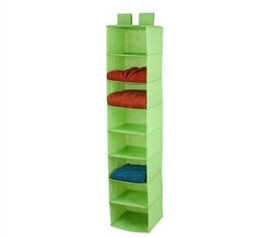 Lime Green 8-Shelf Hanging Organizer