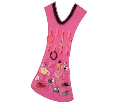 Hanging Dress Jewelry Holder - Pink