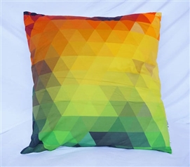 Rainbow Pixelated Cotton Throw Pillow for Twin XL Dorm Bedding