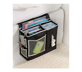 Dorm Storage Solutions - Bedside Storage Caddy - Black