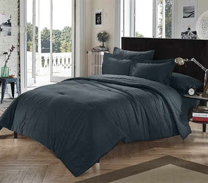 Chino Black Twin XL Comforter Dorm Essentials College Supplies