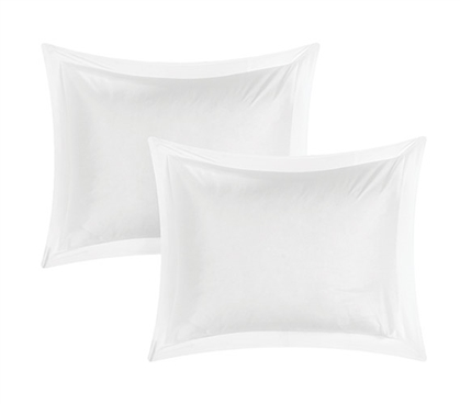 Bamboo Modal White Sham Dorm Essentials Dorm Necessities College Supplies