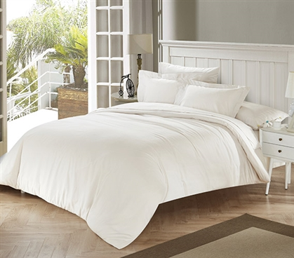 White Sand Tencel Twin XL College Comforter Twin XL Bedding Extra Long Twin Comforter