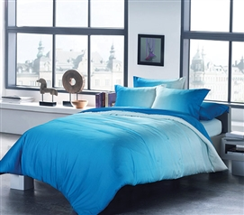 Ombre Aqua Twin XL Comforter Dorm Room Decor Dorm Essentials