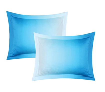 Ombre Aqua Sham Dorm Pillow Shams Dorm Necessities Dorm Supplies