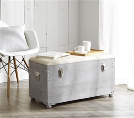 Central Style® Cushion Seater Trunk - Light Gray with Natural Cushion