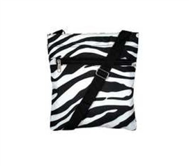 Black and White Zebra Purse Messenger Bag