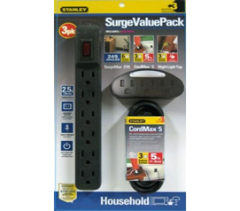 Protect College Valuables - 3pc Surge Value Pack - Dorm Essentials For College