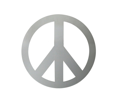 Non-Glass Mirror - Peace Sign Mirror - Peel N Stick - Decorate Your Dorm