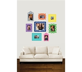 Decorate Your Dorm - Stickr Frames - Set of 8 Multi-Color - Products For College Students