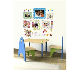 Decorate Your Dorm - Stickr Frames & Dry Erase Notes - Set of 10 Sweet - Cool Items For College